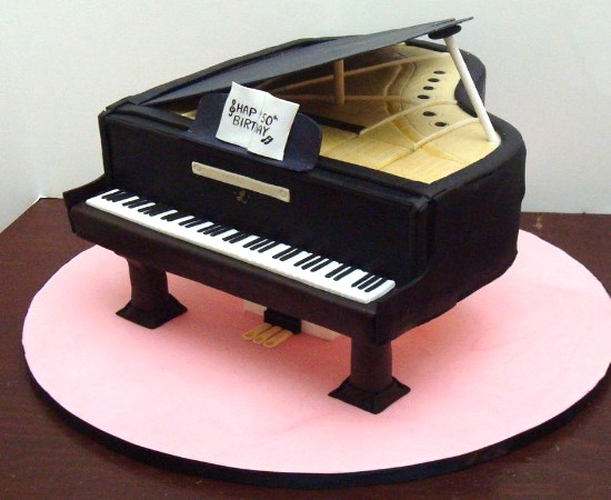 How To Make A Baby Grand Piano Cake