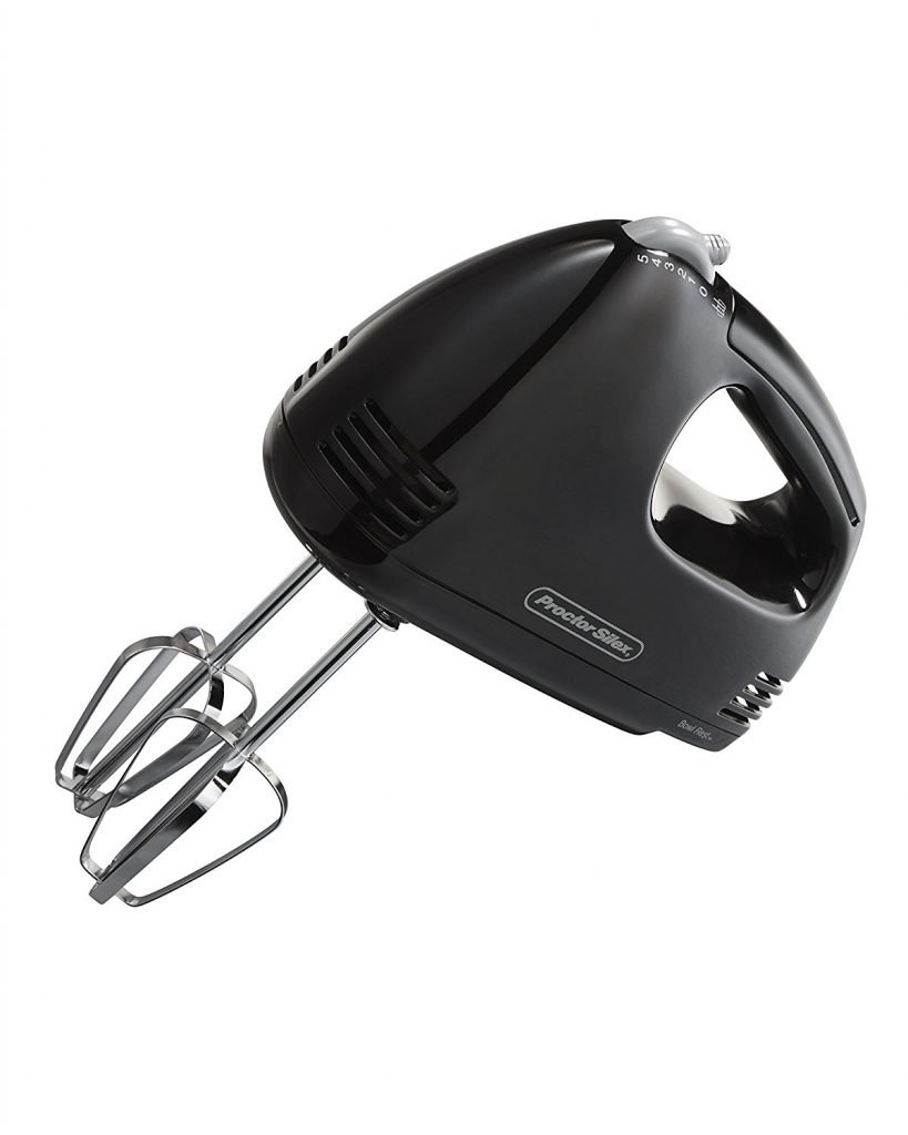Proctor Silex 62507 5-Speed Easy Mix Hand Mixer Black